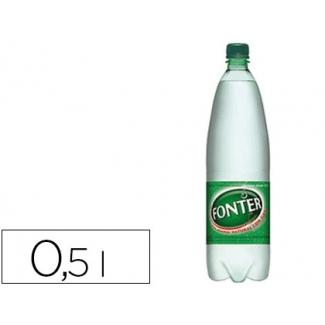 Agua mineral natural con gas Fonter botella de 500ml