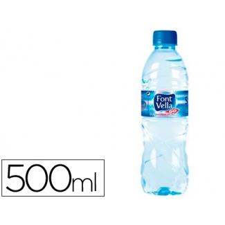 Agua mineral natural font vella sant hilari 500ml