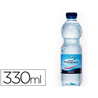 Agua mineral natural fuente primavera botella de 330ml