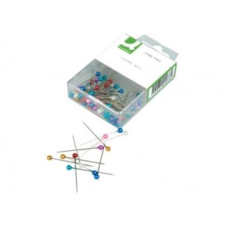 Agujas señalizadoras Q-Connect caja de 80 unidades colores surtidos