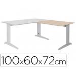 Ala para mesa Rocada serie metal 60x 100 cm derecha o izquierda acabado ac01 aluminio/ haya