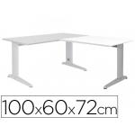 Ala para mesa Rocada serie metal 60x 100 cm derecha o izquierda acabado ac04 aluminio/ color blanco