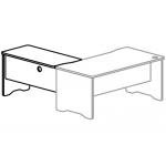 Ala para mesa Rocada serie work 100x60 derecha o izquierda acabado aa01 haya/haya
