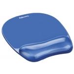 Alfombrilla para raton Fellowes color azul con reposamuñeca de gel