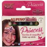 Alpino Princess DL000112 - Barras de maquillaje, 6 colores surtidos, barra de 5 gr