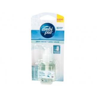Ambientador ambi pur eléctrico jabon natural recambio 21,5 ml