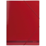 Apli 15443 - Carpeta de cartón con gomas y solapas, tamaño folio, color rojo
