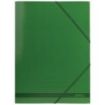 Apli 15444 - Carpeta de cartón con gomas y solapas, tamaño folio, color verde