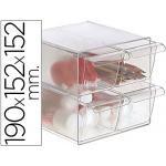 Archicubo archivo 4 cajones organizador modular plástico incluye 2 clips de sujeción