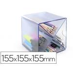 Archicubo archivo aspa organizador modular plástico azul transparente incluye 2 clips de sujección