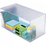 Archicubo archivo hueco doble en poliestileno transparente