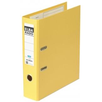 Elba Rado - Archivador de palanca, tamaño A4, lomo ancho, con rado, color amarillo