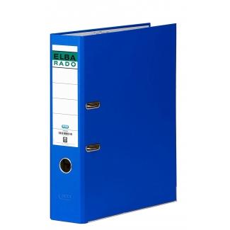 Archivador de palanca Elba cartón forrado tamaño A4 color azul lomo de 80 mm rado chic