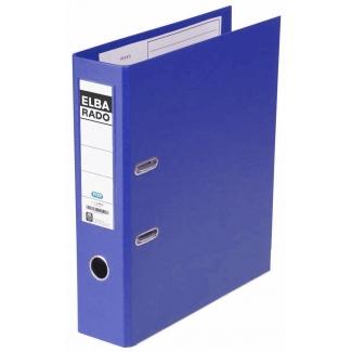 Archivador de palanca Elba cartón forrado tamaño A4 color azul lomo de 80 mm rado plast