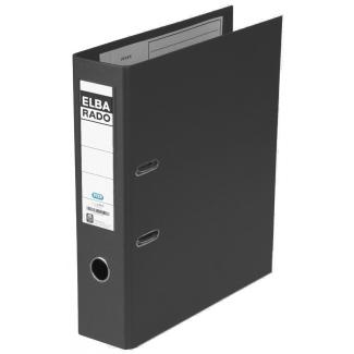 Elba Rado Plast - Archivador de palanca, tamaño A4, lomo ancho, con rado, color negro