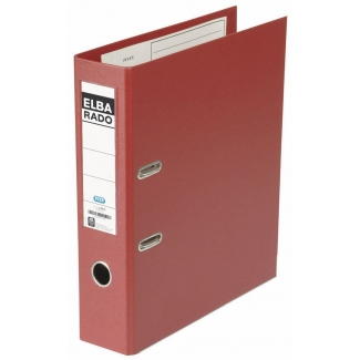 Archivador de palanca Elba cartón forrado tamaño A4 color rojo lomo de 80 mm rado plast