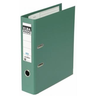 Elba Rado Plast - Archivador de palanca, tamaño A4, lomo ancho, con rado, color verde