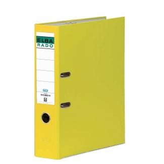 Elba Rado Chic 100022670 - Archivador de palanca, tamaño folio, lomo ancho, con rado, color amarillo