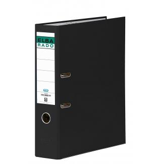 Archivador de palanca Elba cartón forrado tamaño folio color negro lomo de 80 mm rado chic