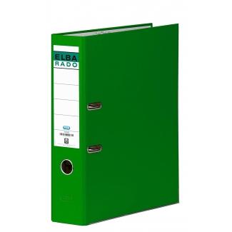 Archivador de palanca Elba cartón forrado tamaño folio color verde lomo de 80 mm rado chic