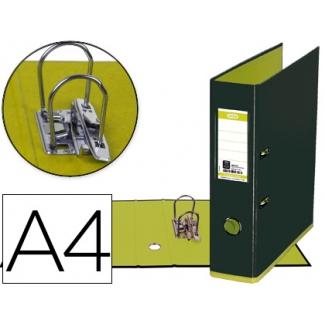 Archivador de palanca Elba mycolour cartón forrado tamaño A4 color negro verde lomo de 80 mm