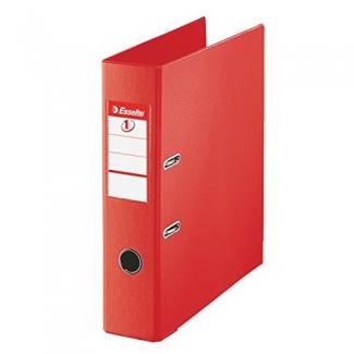 Archivador de palanca Esselte plástico tamaño folio color rojo