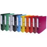 Archivador de palanca Exacompta cartón forrado pvc tamaño A4 colores surtidos lomo 70 mm con compresor