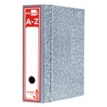 Archivador de palanca Liderpapel cartón forrado tamaño folio jaspeado color gris con caja classic red
