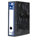 Archivador de palanca Liderpapel cartón forrado tamaño folio jaspeado color negro con caja classic blue