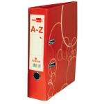 Archivador de palanca Liderpapel lucerna cartón forrado tamaño folio color rojo con rado lomo de 75 mm con etiquetero