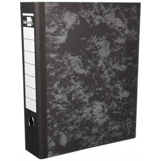 Archivador de palanca Liderpapel tamaño A4 cartón forrado sin rado lomo 80 mm color negro con compresor metálico