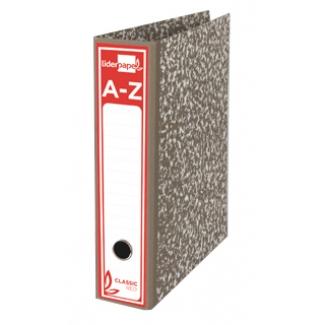 Archivador de palanca Liderpapel tamaño A4 classic red cartón entrecolado sin rado lomo 80 mm color gris con compresor metálico