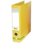 Archivador de palanca Liderpapel tamaño A4 color system forrado sin rado lomo 80 mm amarillo con compresor metálico
