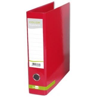 Archivador de palanca Liderpapel tamaño A4 color system forrado sin rado lomo 80 mm rojo con compresor metálico