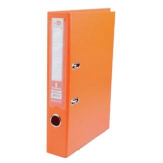 Archivador de palanca Liderpapel tamaño A4 documenta forrado pvc con rado lomo 52 mm color naranja con compresor metálico