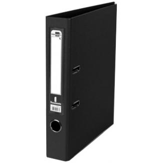 Archivador de palanca Liderpapel tamaño A4 documenta forrado pvc con rado lomo 52 mm color negro con compresor metálico