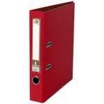 Archivador de palanca Liderpapel tamaño A4 documenta forrado pvc con rado lomo 52 mm color rojo con compresor metálico