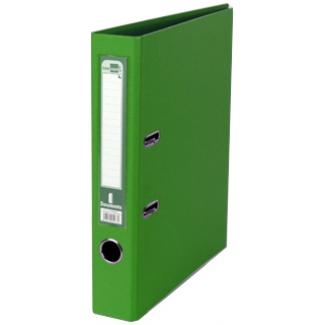 Archivador de palanca Liderpapel tamaño A4 documenta forrado pvc con rado lomo 52 mm color verde con compresor metálico