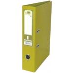 Archivador de palanca Liderpapel tamaño A4 documenta forrado pvc con rado lomo 75 mm color amarillo con compresor metálico