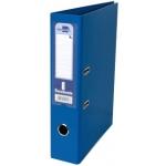 Archivador de palanca Liderpapel tamaño A4 documenta forrado pvc con rado lomo 75 mm color azul con compresor metálico
