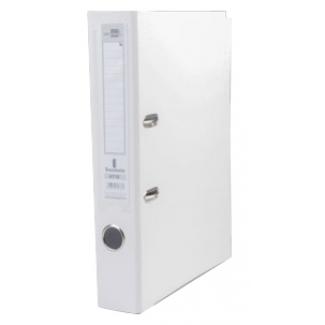 Archivador de palanca Liderpapel tamaño A4 documenta forrado pvc con rado lomo 75 mm color blanco con compresor metálico