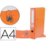 Liderpapel AZ68 - Archivador de palanca, tamaño A4, lomo ancho, con rado, color naranja