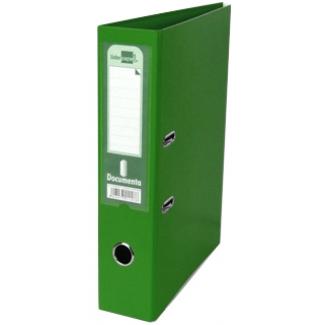 Archivador de palanca Liderpapel tamaño A4 documenta forrado pvc con rado lomo 75 mm color verde con compresor metálico