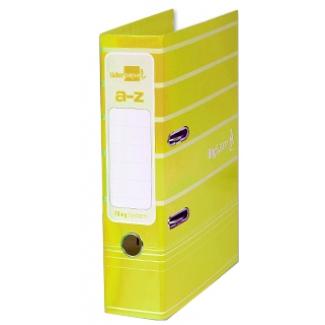 Archivador de palanca Liderpapel tamaño A4 filing system forrado con rado lomo 75 mm color amarillo con compresor metálico