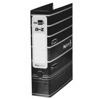Liderpapel AZ20 - Archivador de palanca, tamaño A4, lomo ancho, con rado, color negro