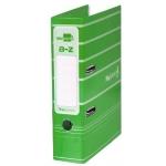 Archivador de palanca Liderpapel tamaño A4 filing system forrado con rado lomo 75 mm color verde con compresor metálico
