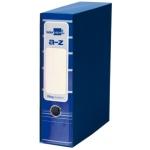 Archivador de palanca Liderpapel tamaño A4 filing system forrado sin rado lomo 80 mm color azul con caja y con compresor metálico