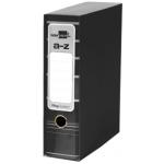 Archivador de palanca Liderpapel tamaño A4 filing system forrado sin rado lomo 80 mm color negro con caja y con compresor metálico