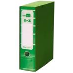 Archivador de palanca Liderpapel tamaño A4 filing system forrado sin rado lomo 80 mm verdecon caja y con compresor metálico