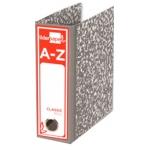 Liderpapel AZ09 - Archivador de palanca, tamaño folio, lomo cuarto apaisado, color gris jaspeado